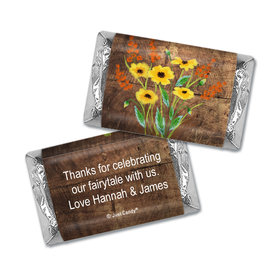 Personalized Painted Flowers Wedding Hershey's Miniatures