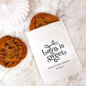 Personalized Love is Sweet Wedding Cookie Bag