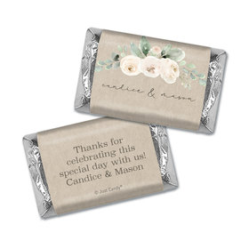 Personalized Precious Peonies Wedding Hershey's Miniatures