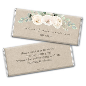 Personalized Precious Peonies Wedding Chocolate Bars