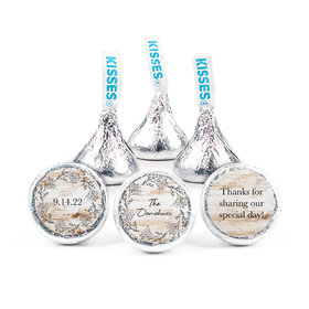 Personalized Wedding Delicate Botanicals Hershey's Kisses (50 pack)