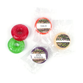 Personalized Wedding Mr. & Mrs. Rustic LifeSavers 5 Flavor Hard Candy