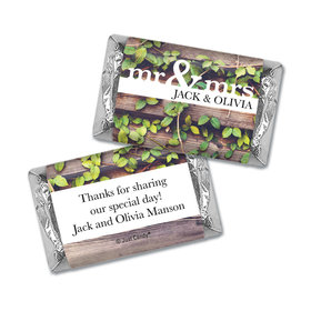 Personalized Mr. & Mrs. Rustic Mini Wrappers Only