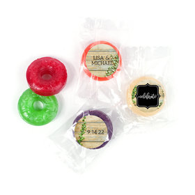 Personalized Wedding Vines of Love LifeSavers 5 Flavor Hard Candy