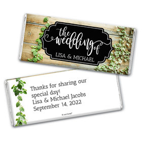 Personalized Vines of Love Wedding Chocolate Bars