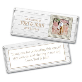 Personalized Farmhouse Framed Wedding Chocolate Bar Wrappers