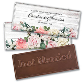 Personalized Elegant Arrangement Wedding Embossed Chocolate Bars