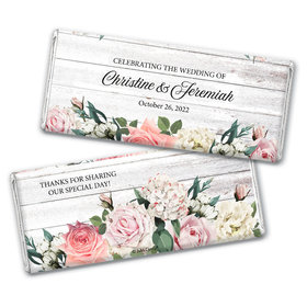 Personalized Elegant Arrangement Wedding Chocolate Bar Wrappers