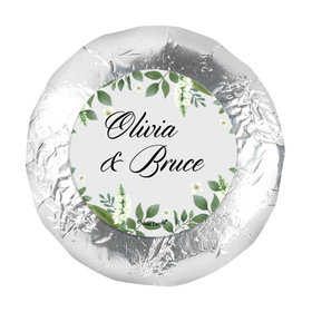 "Personalized Wedding Botanical Garden 1.25"" Stickers (48 Stickers)"