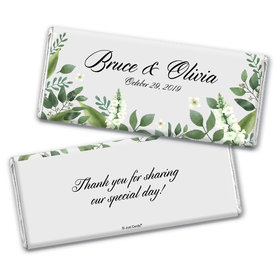 Personalized Botanical Garden Wedding Chocolate Bar Wrappers