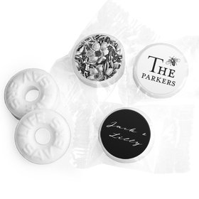 Personalized Wedding Ornamental Botanicals LifeSavers Mints