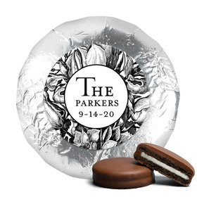 Personalized Wedding Ornamental Botanicals Chocolate Covered Oreos