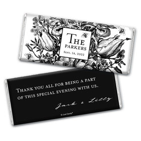 Personalized Ornamental Botanicals Wedding Chocolate Bars