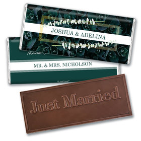 Personalized Enchanting Bloom Wedding Embossed Chocolate Bars
