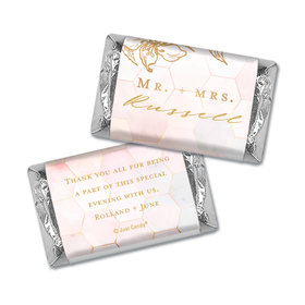 Personalized Blushing Dream Wedding Hershey's Miniatures