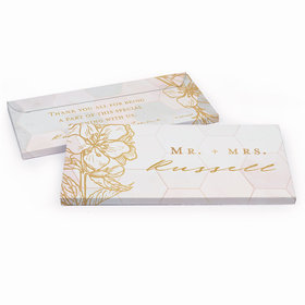 Deluxe Personalized Blushing Dream Wedding Hershey's Chocolate Bar in Gift Box