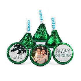 Personalized Wedding Reception Contemporary Foliage Hershey's Kisses (50 pack)