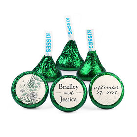 Personalized Wedding Reception Romantic Flora Hershey's Kisses (50 pack)