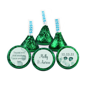Personalized Wedding Reception Peaceful Eucalyptus Hershey's Kisses (50 pack)