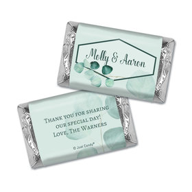 Personalized Wedding Peaceful Eucalyptus Hershey's Miniatures Wrappers