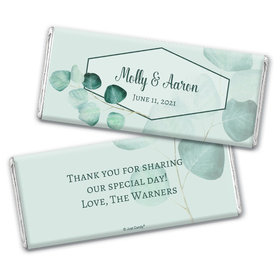 Personalized Wedding Peaceful Eucalyptus Chocolate Bar