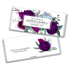 Personalized Elegant Botanicals Wedding Chocolate Bar Wrappers