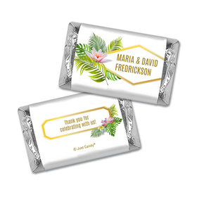 Personalized Floral Glam Wedding Hershey's Miniatures