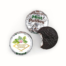 Personalized Wedding Floral Glam Pearson's Mint Patties