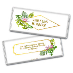 Personalized Floral Glam Wedding Chocolate Bar Wrappers
