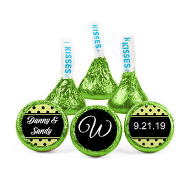 Personalized Wedding Reception Dots Hershey's Kisses (50 pack)