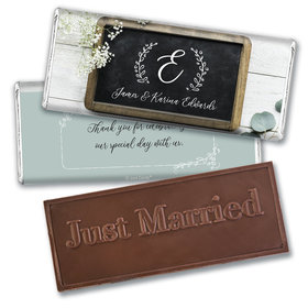 Personalized Chalkboard Lettering Wedding Embossed Chocolate Bars