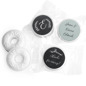 Personalized Wedding Chalkboard Lettering LifeSavers Mints