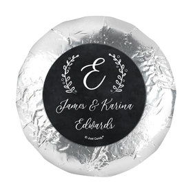 "Personalized Wedding Chalkboard Lettering 1.25"" Stickers (48 Stickers)"