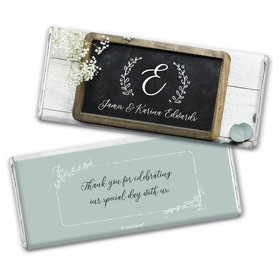 Personalized Chalkboard Lettering Wedding Chocolate Bar Wrappers