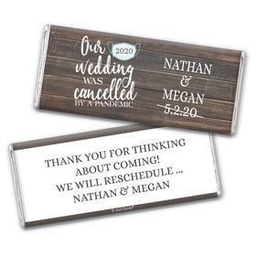Personalized Our Wedding Was Cancelled Chocolate Bar Wrappers