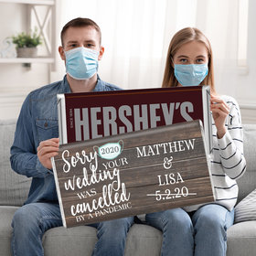 Sorry Your Wedding Was Cancelled Personalized 5lb Hershey's Chocolate Bar (5lb Bar)