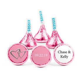 Personalized Wedding Reception Linked Hearts Hershey's Kisses (50 pack)