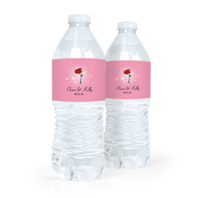 Personalized Rose Wedding Water Bottle Labels (5 Labels)