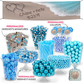 Personalized Wedding Beach Themed Deluxe Candy Buffet