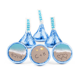 Personalized Wedding Reception Love You Sand Hershey's Kisses (50 pack)