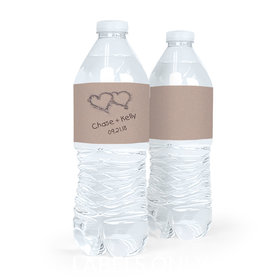 Personalized Ocean Sand Wedding Water Bottle Labels (5 Labels)