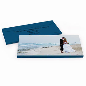 Deluxe Personalized Full Photo Wedding Hershey's Chocolate Bar in Gift Box