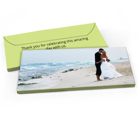 Deluxe Personalized Full Photo Wedding Candy Bar Favor Box