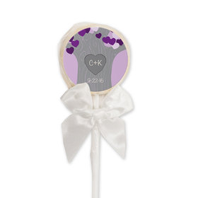 Wedding Favor Personalized White Lollipop Tree of Love (24 Pack)