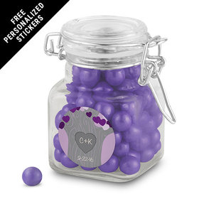 Wedding Favor Personalized Latch Jar Tree of Love (12 Pack)