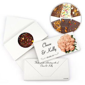 Personalized Flower Bouquet Wedding Gourmet Infused Belgian Chocolate Bars (3.5oz)