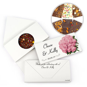 Personalized Flower Bouquet Wedding Gourmet Infused Chocolate Bars (3.5oz)