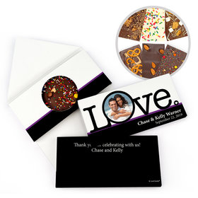 Personalized Big Love Photo Cameo Wedding Gourmet Infused Chocolate Bars (3.5oz)