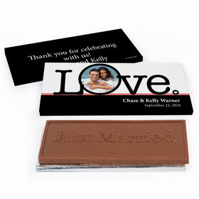 Deluxe Personalized Big Love Photo Cameo Wedding Chocolate Bar in Gift Box