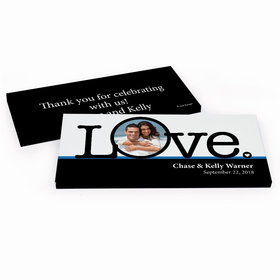 Deluxe Personalized Big Love Photo Cameo Wedding Hershey's Chocolate Bar in Gift Box